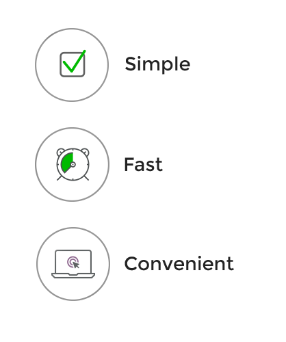 3 steps application process